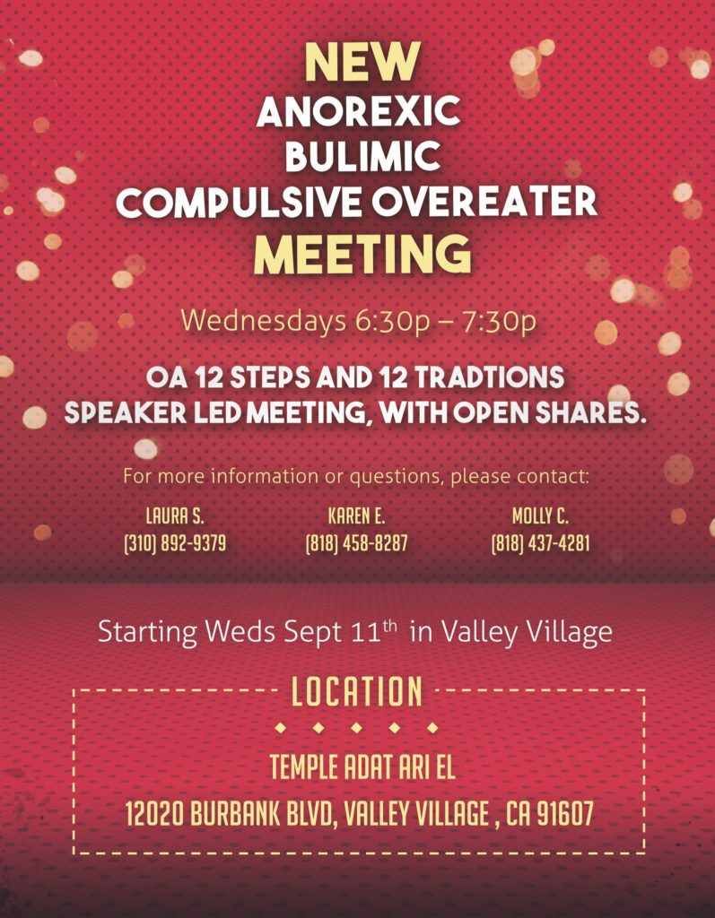 New Anorexic Bulimic Compulsive Overeater Meeting
